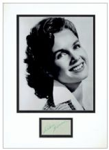 Debbie Reynolds Autograph Signed Display